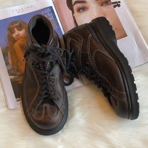 Dr. Martens Dark Brown Leather High Top Shoes 5